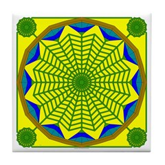 Window Flower 00 Tile Coaster