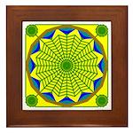 Window Flower 00 Framed Tile