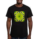 Window Flower 00 Men's Fitted T-Shirt (dark)