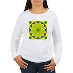 Window Flower 00 Women's Long Sleeve T-Shirt