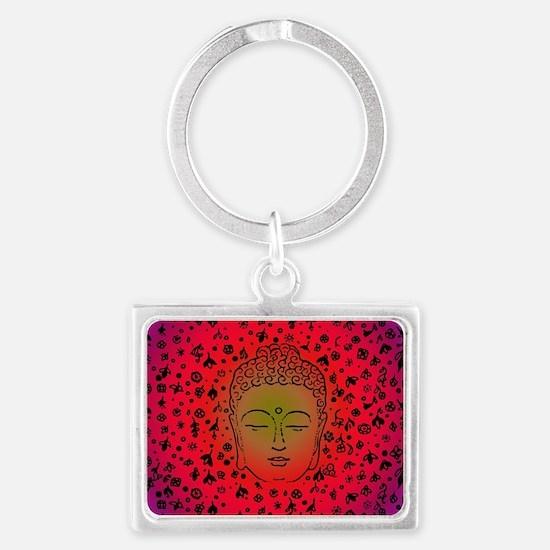 Buddha Pink Landscape Keychain
