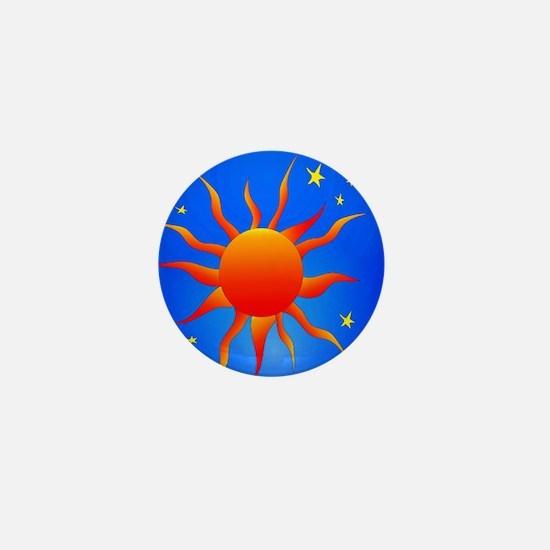 Sun Stars Mini Button