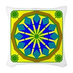 Window Flower 07 Woven Throw Pillow