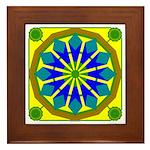 Window Flower 07 Framed Tile