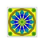 Window Flower 07 Square Sticker 3