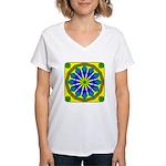 Window Flower 07 Women's V-Neck T-Shirt