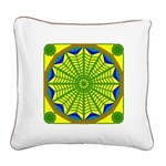 Window Flower 06 Square Canvas Pillow