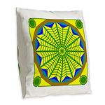 Window Flower 06 Burlap Throw Pillow
