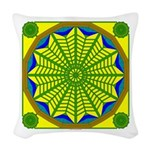 Window Flower 06 Woven Throw Pillow