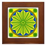 Window Flower 06 Framed Tile