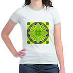 Window Flower 06 Jr. Ringer T-Shirt