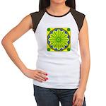 Window Flower 06 Women's Cap Sleeve T-Shirt