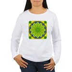 Window Flower 06 Women's Long Sleeve T-Shirt