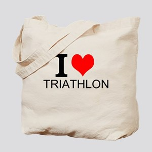 I Love Triathlons Tote Bag
