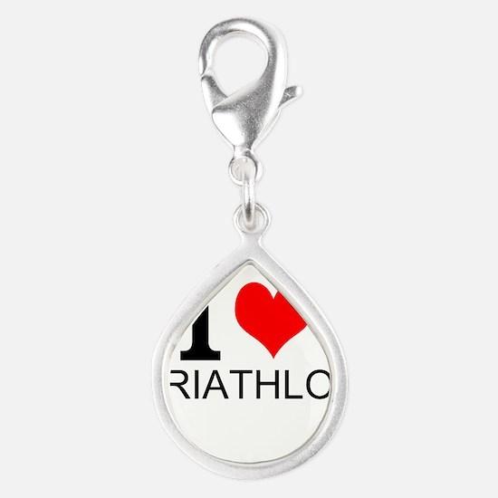 I Love Triathlons Charms