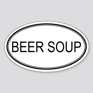 BEER SOUP (oval) Oval Sticker