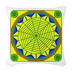 Window Flower 05 Woven Throw Pillow
