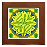 Window Flower 05 Framed Tile
