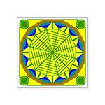 Window Flower 05 Square Sticker 3