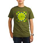 Window Flower 05 Organic Men's T-Shirt (dark)