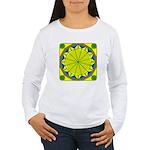 Window Flower 05 Women's Long Sleeve T-Shirt
