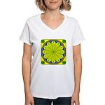 Window Flower 05 Women's V-Neck T-Shirt
