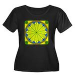 Window F Women's Plus Size Scoop Neck Dark T-Shirt