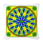 Window Flower 04 Woven Throw Pillow