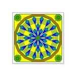 Window Flower 04 Square Sticker 3