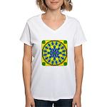 Window Flower 04 Women's V-Neck T-Shirt