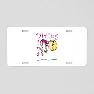 Diving Diva Aluminum License Plate