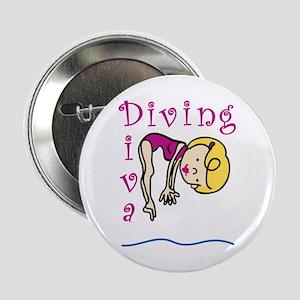 "Diving Diva 2.25"" Button"