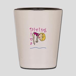 Diving Diva Shot Glass