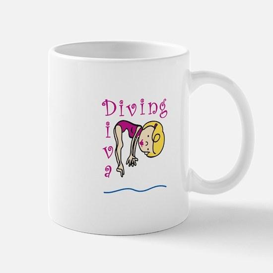 Diving Diva Mugs