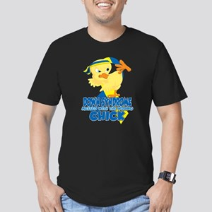 Down Syndrome Messed W Men's Fitted T-Shirt (dark)