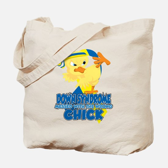 Down Syndrome Messed With The Wrong Chick Tote Bag