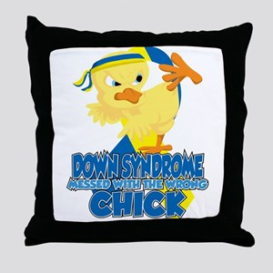 Down Syndrome Messed With The Wrong C Throw Pillow