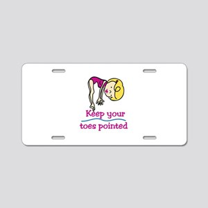 Point Toes Aluminum License Plate