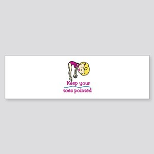 Point Toes Bumper Sticker