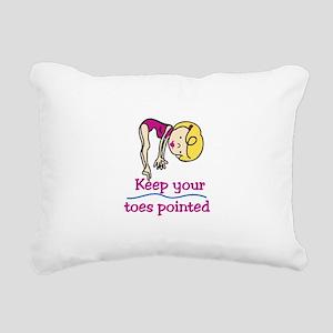 Point Toes Rectangular Canvas Pillow