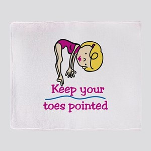 Point Toes Throw Blanket