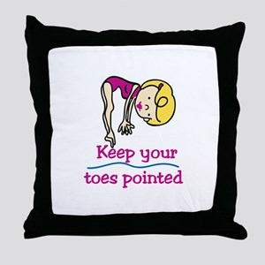 Point Toes Throw Pillow