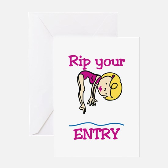 Rip Your Entry Greeting Cards