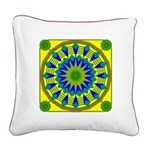 Window Flower 03 Square Canvas Pillow