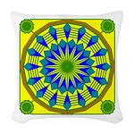 Window Flower 03 Woven Throw Pillow