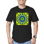 Window Flower 03 Men's Fitted T-Shirt (dark)