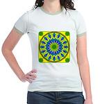 Window Flower 03 Jr. Ringer T-Shirt