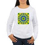 Window Flower 03 Women's Long Sleeve T-Shirt