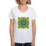 Window Flower 03 Women's V-Neck T-Shirt