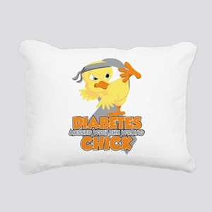 Diabetes Messed With The Rectangular Canvas Pillow